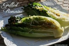 Charred romaine with garlic infused oil, lemon and parmesan! #fodmap #fodmaps