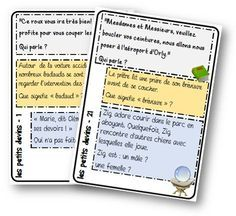 La classe de Mallory - Ressources et jeux pour le Cycle 3 Cycle 3, Teaching Reading, Learning, Love French, Educational Crafts, Reading Intervention, Teaching French, Daily 5, Reading Material