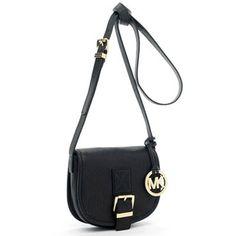 Michael Kors Small Saddle Bag Messenger Black
