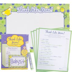 Think Like Mom Baby Shower Game. I wonder who really knows me. Hmmmm...