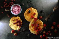 Lemon Pancakes, Low Carb Pancakes, Low Carb Bread, Ketogenic Recipes, Low Carb Recipes, Healthy Recipes, Paleo Food, Ketogenic Diet, Healthy Food
