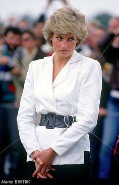 Princess Diana at Guards Polo Club Windsor UK © Lionel Cherruault Royal Picture Library / Alamy