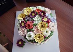butter cream flower cake www.ginniecake.com http://blog.naver.com/free13030