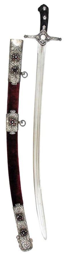 Karabela Saber.      Dated: late 18th -early 19th century.     Culture: Polish or Ukrainian. Copyright 2013 © Auction Flex