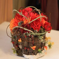 fall flower arrangements, autumn colors, table centerpieces