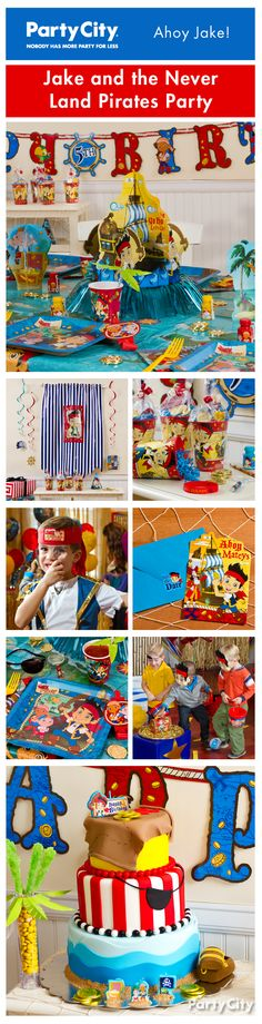 Take your birthday party crew on an adventure! Our treasure trove of Jake and the Never Land Pirates party ideas will surely shiver their timbers!