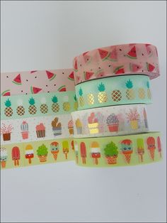 Lots of ideas with Washi Tape - flood of pictures from gluing and handicrafts! - The very best ideas with washi tape - Washi Tape Planner, Washi Tape Cards, Washi Tape Set, Masking Tape, Cool Stationary, Stationary School, Cute Stationery, Cool School Supplies, Craft Supplies