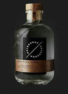 Melbourne Moonshine: Branding & Packaging by SenseYou can find Bottle design and more on our website.Melbourne Moonshine: Branding & Packaging by Sense Glass Packaging, Beverage Packaging, Brand Packaging, Design Packaging, Food Packaging, Alcohol Bottles, Liquor Bottles, Design Poster, Label Design