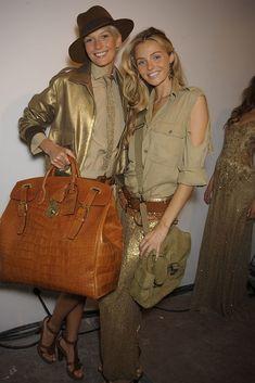 Ralph Lauren Spring 2009 Ready-to-Wear Fashion Show Beauty Katia Kokoreva and Valentina Zelyaeva