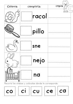 Preschool Spanish Lessons, Spanish Teaching Resources, Teaching Materials, Writing Worksheets, Kindergarten Worksheets, Learning Activities, Kids Learning, Bilingual Education, Bilingual Classroom