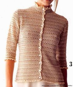 Saco de dama muy fino al crochet con moldes y patrones | Crochet y dos agujas