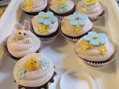 Easter gumpaste decorations. Cupcake Decorations, Easter Cupcakes, Gum Paste, Desserts, Food, Tailgate Desserts, Deserts, Essen, Postres