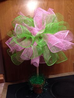 Hey, I found this really awesome Etsy listing at https://www.etsy.com/listing/177609810/topiary-easter-topiary-deco-mesh-topiary
