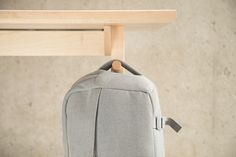 Furniture. Amazing Modern Hardwood Desk To Ease Your Workflow By Artifox: Amazing Inovation Hardwood Desk Furniture With Multiple Function For Grey Hanger Sling Bag Perfect Idea ~ wegli