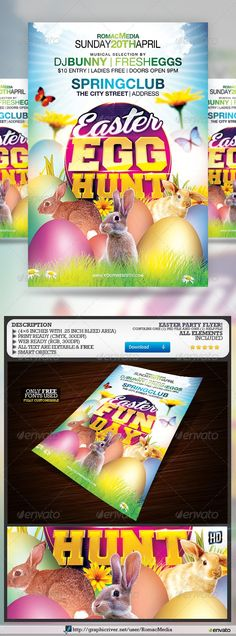 9 best EASTER SPRING images on Pinterest Flyer template, Posters
