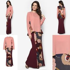 Fesyen Baju Kurung Moden Terkini 2016 2017 Design By Zolace - Two Become  Fun Pink Baju. Baju KebayaPeplumIndonesia 8ecb52b679