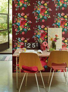 Burgundy Dutch Painters Wallpaper By Pip Studio