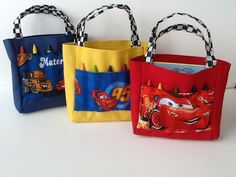 Disney Cars Children's Crayon Bag and by JustSomethingSpecial