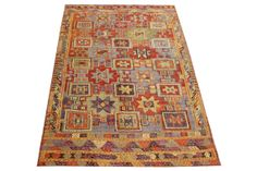 Turkish Handmade Decorative Kilim Rug Antique rug  chevron cicim rug  oriental large size kilim rug natural dye wool striped kilim Y-611