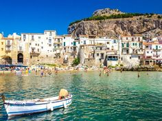 Wedged between mountains and coastline, the tiny Sicilian town of Cefalù is perfect for couples looking for a low-key seaside escape. Besides its windswept, rugged beaches, there's a picturesque harbor, charming centro storico (historic center) with one of the island's most beautiful duomos, and lots of cozy restaurants. Tempio di Diana, a fourth-century temple ruin overlooking the entire town and coastline, is the best place to watch the sun set.