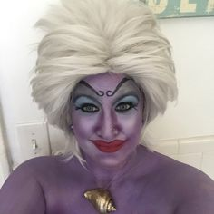 Make up for Ursula from the little mermaid for The Mermaid Parade in Coney Island, NY. DIY costume and tentacles made by me. #mermaidparade #ursula #ursulatheseawitch #coneyisland #thelittlemermaid #brooklyn #queensinthehouse #costume #diycostume #handcrafted #costumemaking #mermaidparade #coneyislandmermaidparade #ursulamakeup #thelittlemermaid #disney #cosplay #ursulacosplay #tentacles #octopus #disneyvillans