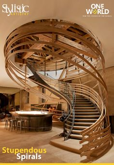 Les Haras #Restaurant, France  Designed by Jouin Manku   Aren't these stairs absolutely remarkable? #Stairs #Interiors #ONEWorld