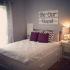 Be our guest guest bedroom decor by TaggedWithLove1 on Etsy diy
