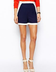 Image 4 of ASOS Shorts In Color Block.