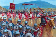 Roman legions in battle, during the Roman Civil War