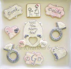Proposal cookies - Kookie Kreations by Kim