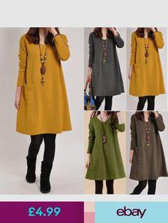 c077bbf47c042 Plus Mori Girls Long Sleeve V Neck Casual Solid Kaftan Cotton Mini Dress