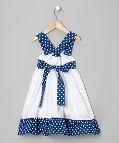 Crafted with soft cotton and simple buttons for easy changing and dressing, this peppy maritime piece is sure to anchor any little lady& wardrobe. Frocks, Jumper, Dressing, Summer Dresses, Infant Toddler, Lady, Anchor, Cotton, Blue
