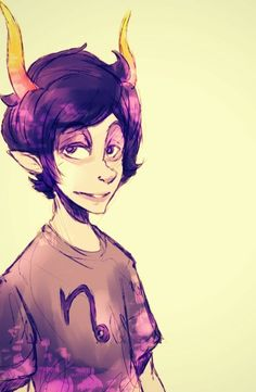 Gamzee looking normal for once. Honestly, this is creepier to me than him sobor. | He looks kind of like Alfalfa...