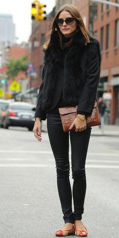 Black Sleeveless Long Faux Fur Vest