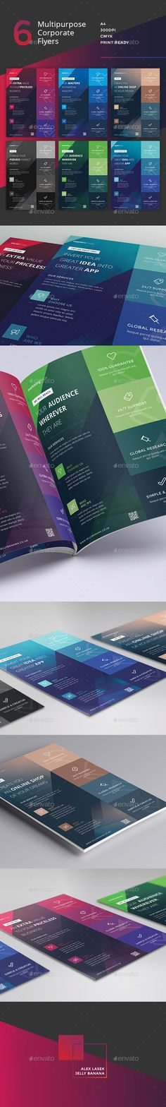 Corporate Flyer - 6 Multipurpose Business Templates PSD #design #promote Download: http://graphicriver.net/item/corporate-flyer-6-multipurpose-business-templates-vol-10/13275550?ref=ksioks