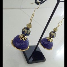 Quilled Traditional Earrings mansid281@gmail.com