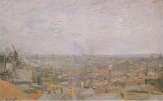 Van Gogh - View of Paris from Montmartre 1886, Oil on canvas, Kunstmuseum Basel, Switzerland