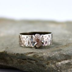 Diamond In The Rough Uncut Diamond Solitaire by ASecondTime, $230.00