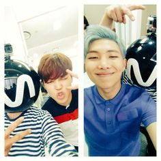 Jimin and Rapmon with MPD-nim ❤