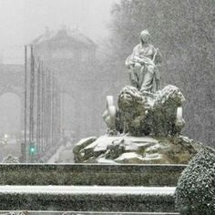 Fuente de Cibeles, en la plaza de Cibeles de Madrid