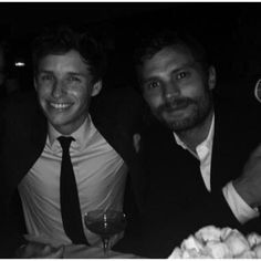 Jamie and his friend Eddy Redmayne