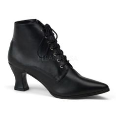 Amazon.com: Black Granny Boots Victorian Shoes Goth Shoes 35: Shoes