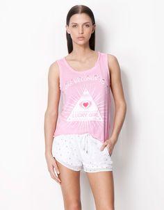 T-shirt Bershka - My Soul Belongs To You / Lucky Girl