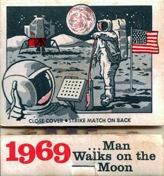 '69 Moon Landing commemorative #matchbook vintage #matchbook cover To buy your business' own advertising collectible #matches GoTo GetMatches.com