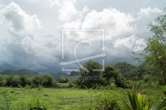 11943768 - aufziehender Monsun in Thailand Thailand, Run Around, Canvas Prints, Mountains, Frame, Pictures, Drawing Pictures, Landscape, Canvas