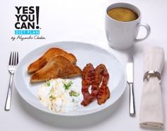 Classic Breakfast and Café con Leche - A healthy option for your Yes You Can! Diet Plan breakfast