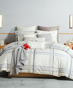 Hotel Collection Modern Plaid Bedding Collection, Only at Macy's | macys.com