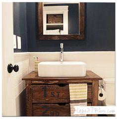 Nice 65 Cute Paint Ideas for a Small Bathroom. More at http://trendecor.co/2017/10/17/65-cute-paint-ideas-small-bathroom/