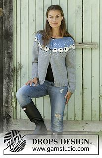 Knitted jacket with round yoke in DROPS Lima. Piece is knitted top down in Norwegian pattern with sheep. Size: S - XXXL