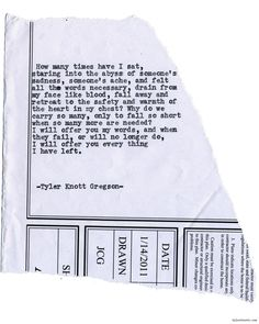 Typewriter Series #1435 by Tyler Knott GregsonChasers of the Light & All The Words Are Yours are Out Now!